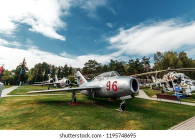 Minsk, Belarus, September 10, 2018. Museum of Avionics, MIG 17. Multipurpose fighter MiG-17. Fighter-bomber of the 1st generation, which was in service in Russia.