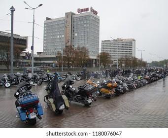 MINSK, BELARUS - September 15, 2018. Motorcycle Parade Harley-Davidson in Minsk, Belarus