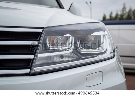 vw touareg headlights