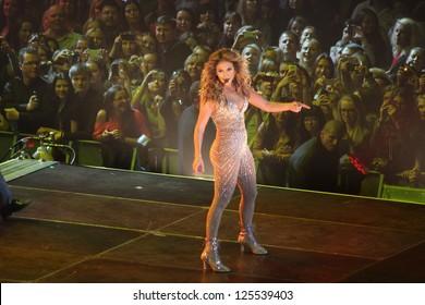 MINSK, BELARUS - SEPTEMBER 21, 2012  Jennifer Lopez at the JLO Dance Again Tour 2012 on September 21, 2012 in Minsk, Belarus