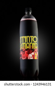 "MINSK, BELARUS-SEPTEMBER 10, 2018:Tinto Mania ""Tinto de Verano"" - Low alcohol drink based on dry red wine (vino de tinto). The most popular and best-selling drink in Spain"