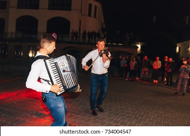 MINSK, BELARUS.September16 2017 Musicians play on the street