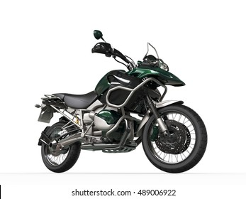 Mint green modern road bike - front wheel closeup - 3D Illustration