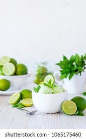 Mint lime ice cream
