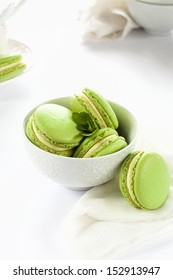 Mint Macarons
