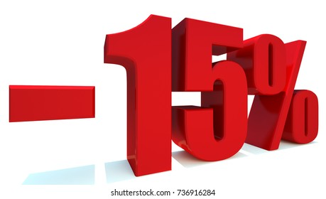 Minus15 Percent off 3d Sign on White Background, Special Offer 15% Discount Tag, Sale Up to 15 Percent Off,big offer, Sale, Special Offer Label, Sticker, Tag, Banner, Advertising, offer Icon
