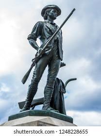 Minuteman statue in Concord Massachusetts