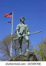 Minuteman Statue at Lexington, MA