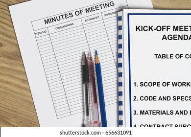 Minutes of meeting concept- with folder cover sheet.