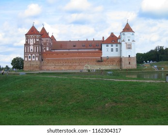 MIR, Belarus - August 22, 2018: The medieval Mir Castle in Belarus. Mir Castle Belarussia.