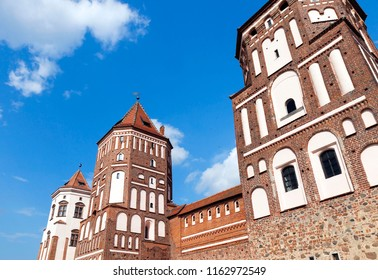 Mir, Belarus July 27, 2016: Ancient fortress for the protection of people in the Middle Ages in Mir, Republic of Belarus
