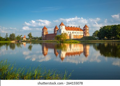 MIR, BELARUS - May 18, 2014: Medieval castle in Mir, Belarus