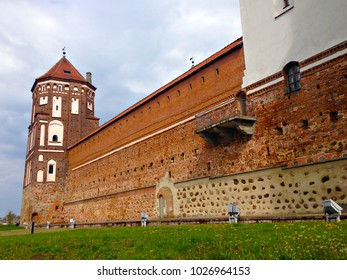 MIR, BELARUS - May 2016: Mirskiy castle in Mir, Belarus