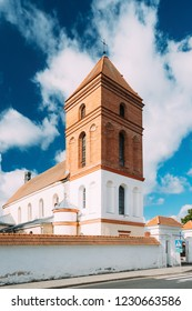 Mir, Belarus. Saint Nicolas Roman Catholic Church In Mir, Belarus. Famous Landmark.