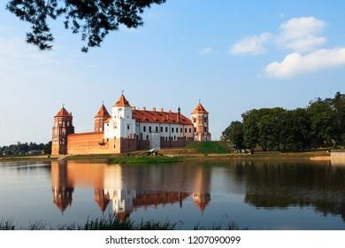 Mir, Belarus. September, 2018. The old red castle of Mir, Belarus Minsk.