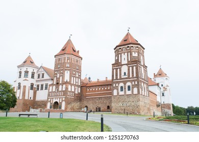 MIR, Belarus - September 3, 2015: Mir Castle is a World Heritage Site from UNESCO, East Europe. Mir Castle Complex of XVI-XX centuries.