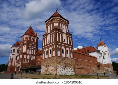 Mir Castle. An architectural monument, included in the UNESCO World Heritage List. Castle of the 16th century. Mir city, Belarus. - Shutterstock ID 1864200610