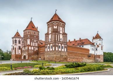 Mir Castle Complex is a UNESCO World Heritage site in Mir town, Belarus - Shutterstock ID 1635461674