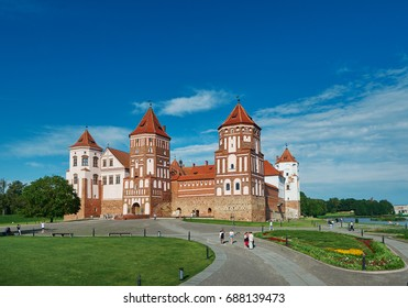 Mir Castle Complex.Europe, Belarus. July 1, 2017