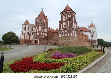 Mir Castle a UNESCO World Heritage site in Mir, Belarus - Shutterstock ID 1924321157