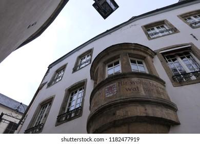 Mir welle bleiwe wat mir sinn, the national motto of Luxembourg