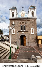 Mira, Carchi, Ecuador, May 20  2019: Sanctuary of the Virgin of La Caridad in the city of Mira