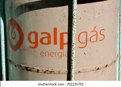 MIRA, PORTUGAL - AUGUST 13, 2017:GALP GAS bottle, galp gas Is a Portuguese oil company established on April 1999