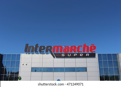 MIRA, PORTUGAL - AUGUST 3, 2016: Intermarche is a French brand of large distribution group Les Mousquetaires founded in 1969.
