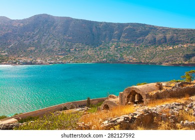 Mirabello bay, view from Spinalonga - the last leprosorium.