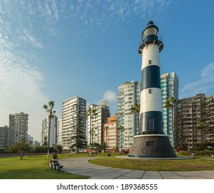 MIRAFLORES, LIMA, PERU: View of the lighthouse