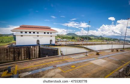 Miraflores Locks at Panama Canal - Panama City, Panama