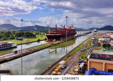 Mirafores, Panama - 2018.12.09. - At the Panama Canal at Miraflores