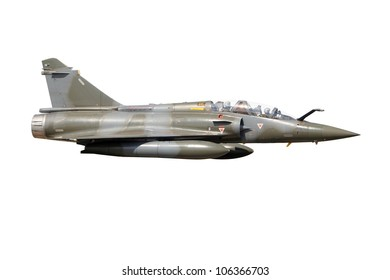 Mirage 2000 military fighter jet plane isolated