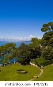 Miramare Park garden view - Trieste - Italy