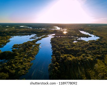 Miranda River photographed in Corumba, Mato Grosso do Sul. Pantanal Biome. Picture made in 2017.