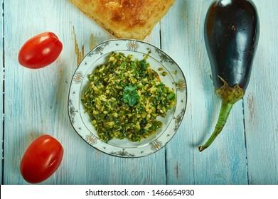Mirchi cha Thecha,  Maharashtrian spicy chutney close up