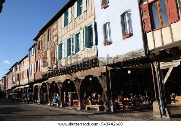 MIREPOIX, FRANCE-DECEMBER 17, 2016: Medieval city of Mirepoix in Pyrenees, France