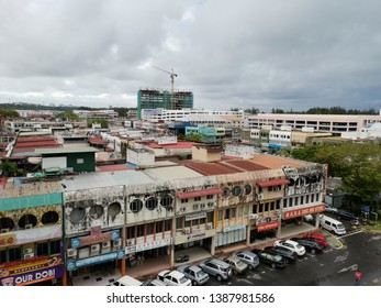 Miri, Malaysia - 4 May 2019: Old Miri town. Miri is one of heavily populated in Sarawak, Malaysia. This city ecomony is supported by oil and gas industry and Brunei people who always come for shopping
