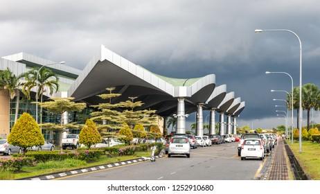 Miri, Sarawak, Malaysia - December 5 2018: Terminal of MIRI INTERNATIONAL AIRPORT (MYY)