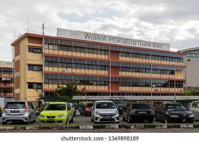 Miri, Sarawak, Malaysia - December 5 2018: Wisma Persekutuan Miri, the Federal Building