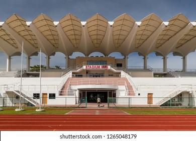 Miri, Sarawak, Malaysia - December 6 2018: Miri Stadium, part of the Miri Sports Complex