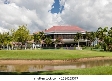 Miri, Sarawak, Malaysia - Decvember 5 2018: The club house of the Golf Club Miri at Kg Pulau Melayu