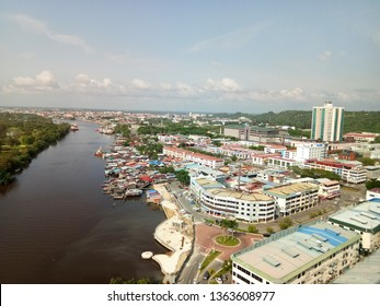 Miri, Sarawak/ Malaysia- Feb 2019: View if Miri City above Pullman Hotel Miri, fantastic city view