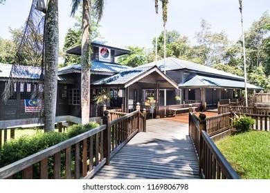 MIRI, SARAWAK, September 1st, 2018: Niah Cave Museum is the first stop into Niah National Park, Sarawak
