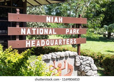 MIRI, SARAWAK, September 1st, 2018: Niah National Park HQ is the administration center on admission to the Niah Great Caves.