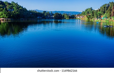 Mirik Lake,Darjeeling in the foothills of eastern Himalayas.
