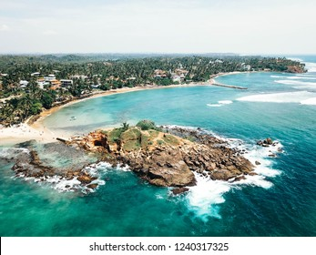 Mirissa aerial view Sri Lanka by drone