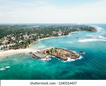 Mirissa beach from above Sri Lanka