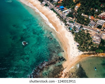 Mirissa beach Sri Lanka aerial view