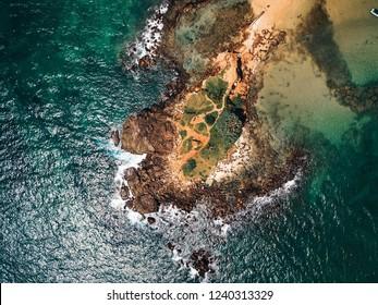Mirissa peninsula Sri Lanka aerial view